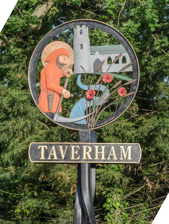 Taverham Road Sign