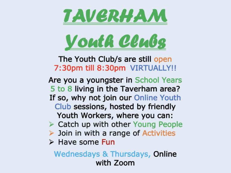 Taverham Youth Club still open - Virtually